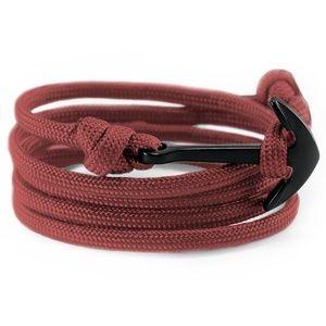 Men Women Handmade Anchor Nylon Bracelet Nautical